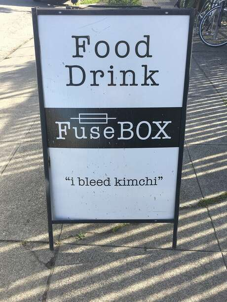The sign at FuseBox. Photo: Vanessa Hua