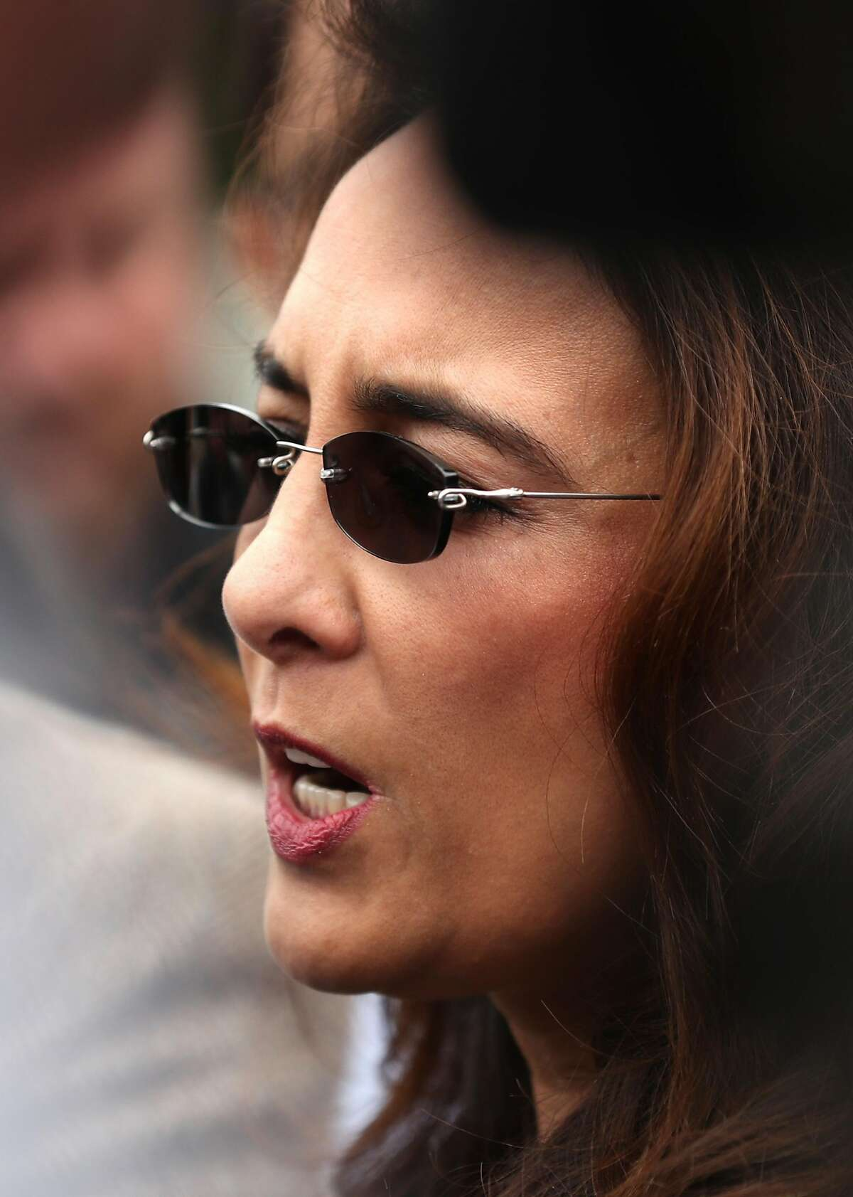 After the cancellation of Ann Coulter's scheduled Thursday appearance in Sproul Plaza, Berkeley College Republicans' attorney Harmeet Dhillon speaks during press conference in Berkeley, Calif., on Wednesday, April 26, 2017.