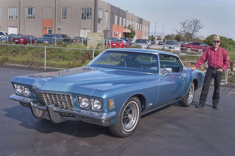 Photos of  David A Klein and his 1972 Buick Rivera Coupe, photographed near Burlingame and San Francisco Intl. Ar tport , CA. on April 4,  2017 Photo: Stephen Finerty, Photograph By Stephen Finerty - All Rights Reserved