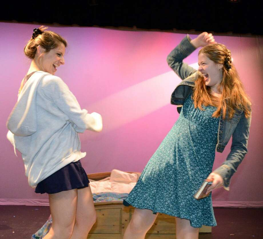 "Danielle Valdes, left, and Hilary Webster in the production of ""Baby"" at the Darien Arts Center, which opened on April 21. Photo: Diane Farrell / Contributed Photo / Darien News"