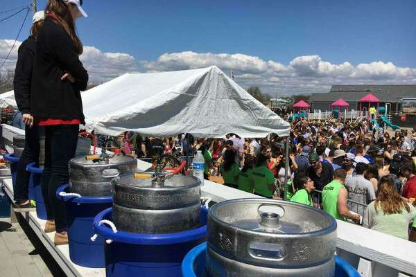 A scene from last year's Clam Jam, sponsored by Fairfield University and held at Penfield Beach. Fairfield,CT. 4/26/17