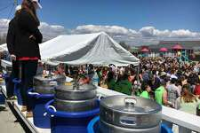 A scene from last year's Clam Jam, sponsored by Fairfield University and held at Penfield Beach.