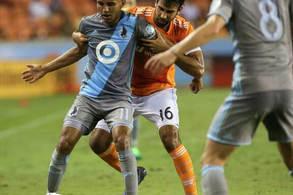 Kevin Garcia (16) has appeared in a pair of games for the Dynamo, including a shutout of San Jose. He served as captain of the team's Rio Grande Valley affiliate last season.