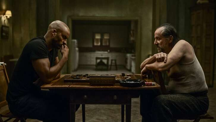 American Gods Season 1; Czernobog (Peter Stormare); EP approved image; ORG3260 - PK wide release; Shadow Moon (Ricky Whittle); Zorya Apartment