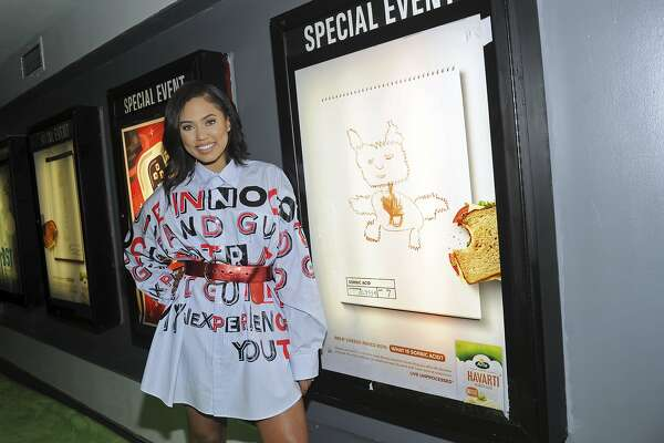 "IMAGE DISTRIBUTED FOR ARLA FOODS - Ayesha Curry, celebrity chef and author, attends the Arla Foods and No Kid Hungry ""Live Unprocessed"" launch event, Tuesday, April 25, 2017, at Village East Cinema in New York. The Live Unprocessed films tackle a topic that's increasingly important to US consumers: what's really in the food that we're feeding our kids? (Photo by Diane Bondareff/Invision for Arla Foods/AP Images)"