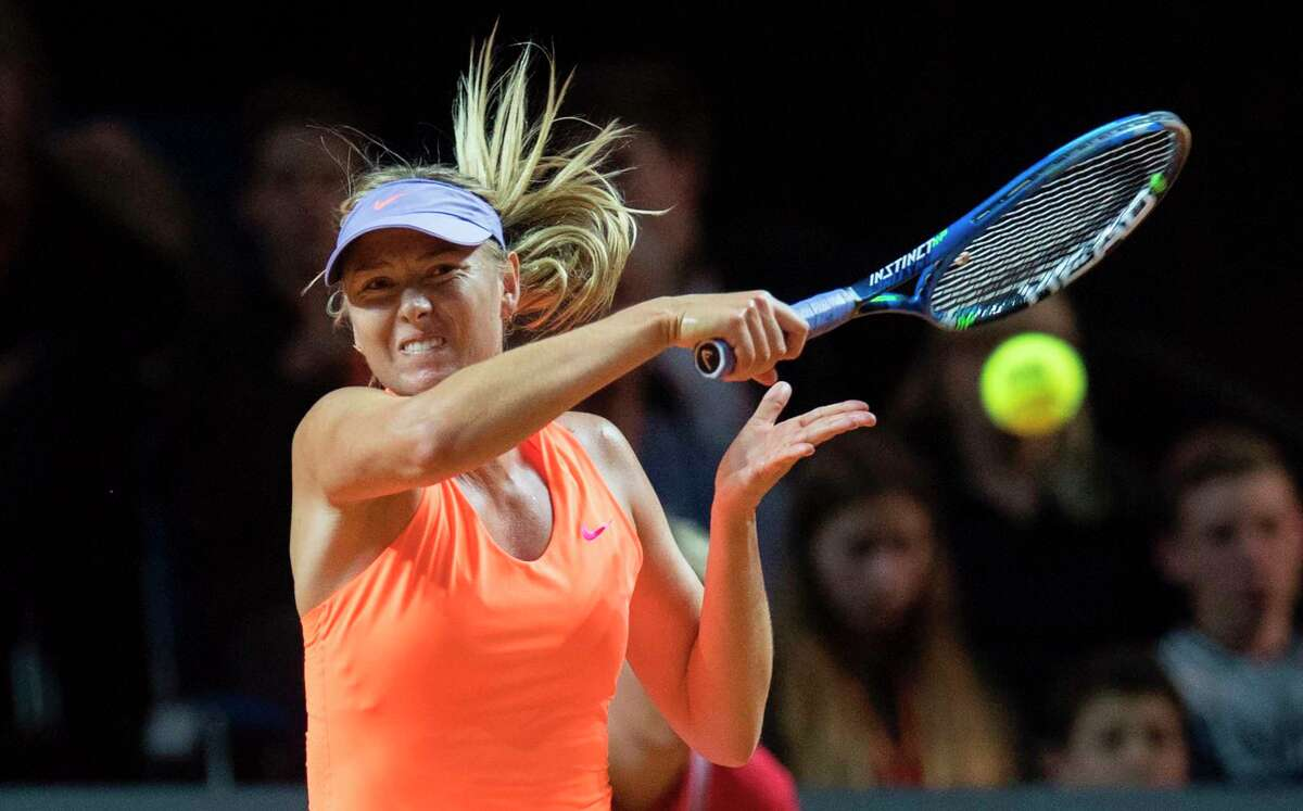Maria Sharapova takes the first step in her comeback, beating Roberta Vinci in straight sets in an event in Stuttgart, Germany.