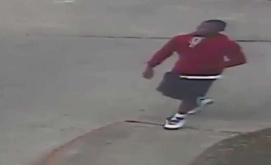Houston police are searching for a suspect who shot a woman in the leg while robbing her of her purse. The incident occurred in the parking lot of an apartment complex in the 9700 block of Court Glen Drive on Monday, April 10 at about 7:30 p.m.SLIDESHOW: Armed robberies caught on surveillance in the Houston area Photo: Houston Police Department