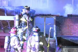 Arson investigators are looking into a laundry room fire at the Preserve of the Port apartments in the 300 block of Gillmore Avenue on April 27, 2017.
