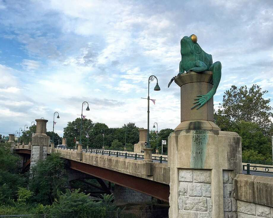 Frog BridgeVisit the frog Bridge in Willimantic; one site considers it the strangest roadside attraction in Connecticut. Find out more.  Photo: The Connecticut Office Of Tourism