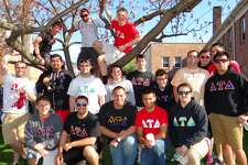Sacred Heart University fraternity members turned out Saturday for the Center for Family Justice's 2nd annual Walk a Mile in Her Shoes.