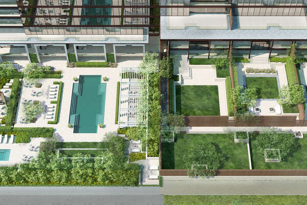 Rendering of The River Oaks backyard, 3433 Westheimer.