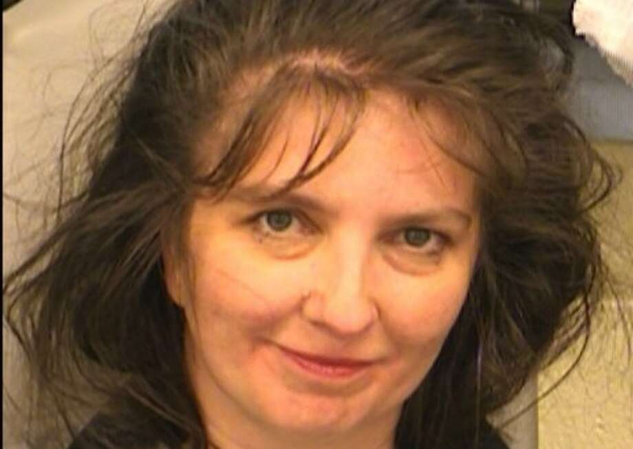Here's the mug shot taken of Amy Hedtke after she was moved from the Texas Capitol to Travis County's jail in March 2017 (Austin Police Department).