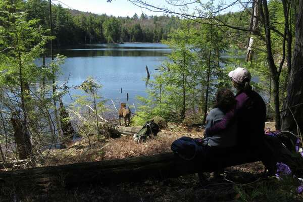 A peaceful moment at Pole Hill Pond in the Lake George Wild Forest. (Herb Terns / Times Union)