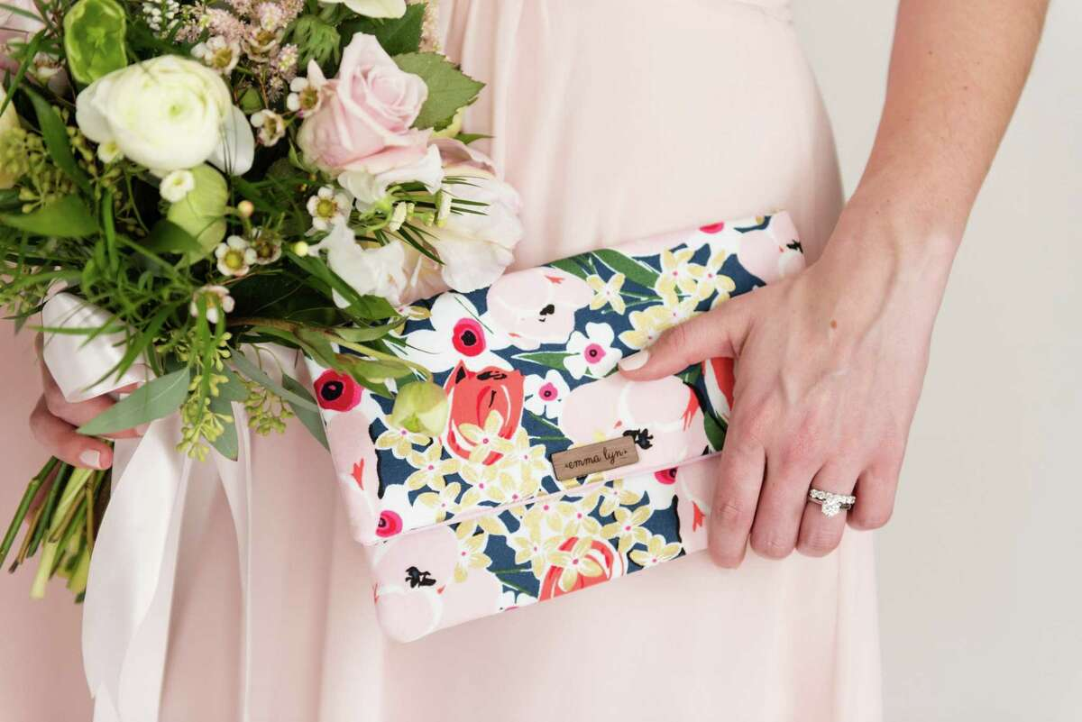 A clutch by Emma Lyn Designs, a business based in Bethel, Conn., photographed by Erin Kavanaugh Photography.