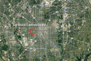 Police say the driver of a black Infiniti was speeding when he struck a school bus with children on board at about 7:30 a.m. Thursday, April 27, 2017, in the 100 block of Castroville Road.