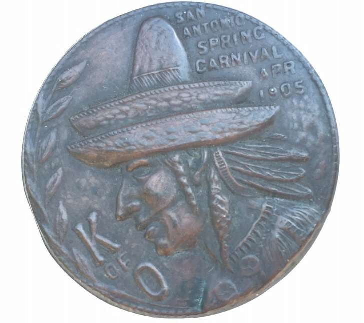 The 112-year-old Knights of Omala medal believed to be the first in Fiesta history.