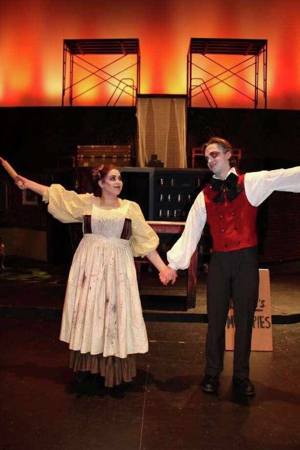 """Klein High School won recognition in three categories at the annual Tommy Tune Awards show for its performance of """"Sweeney Todd: The Demon Barber of Fleet Street."""" Ian Tonroy won """"Best Leading Actor as Sweeney Todd; Ryan Esparza won """"Best Featured Performer"""" as Adolfo Pirell and Klein High School musicians won """"Best Orchestra."""" Photo: Klein ISD"""