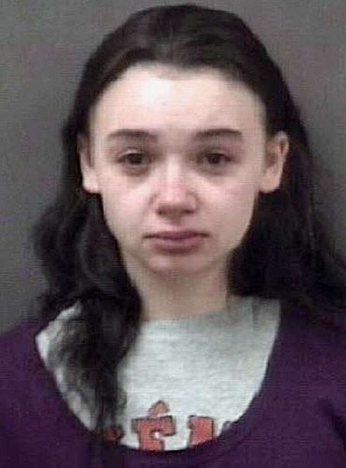Jacqueline Steck, 18, of Ellis Street, Milford, was taken into custody and charged with first-degree robbery, first-degree burglary, first-degree kidnapping with a firearm. criminal use of a firearm and first-degree larceny. The charged stem from the robbery of a person at the Motel 6 on April 12, 2017. Photo: Milford Police Department