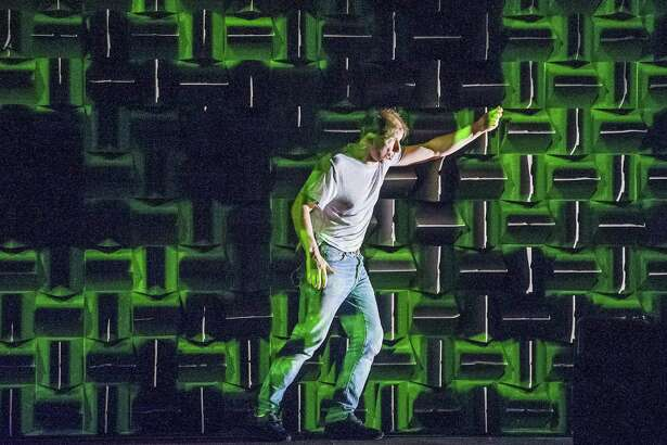 """Simon McBurney in Complicite's Production of """"The Encounter.""""Photo by Tristram Kenton"""