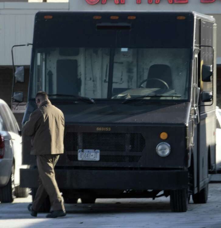 Sales in the U.S. package division jumped 5 percent in the first quarter, Atlanta-based UPS reported Thursday. But every blender, book and bath towel takes fuel and a driver to reach someone's front door, contributing to higher expenses that pared the unit's operating profit by 2.4 percent.