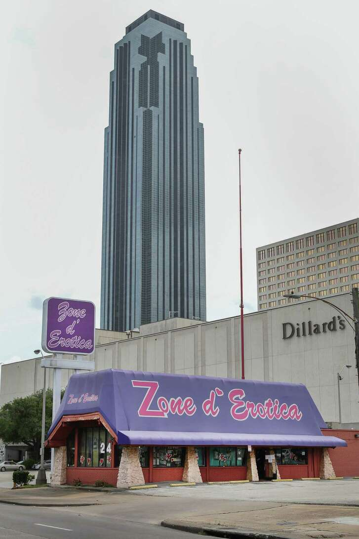 Zone d' Erotica 2626 West Loop S, the iconic Houston landmark, an adult novelty store visible from the heavily traveled West Loop and next to the Galleria Monday, April 17, 2017, in Houston.