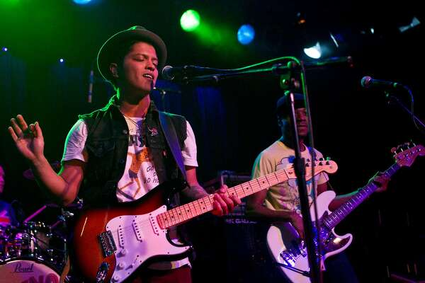 Bruno Mars performs at Slim's in San Francisco, Calif., on Tuesday, November 16, 2010.