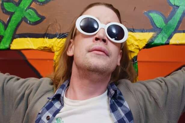Macaulay Culkin as Kurt Cobain in Father John Misty's video.