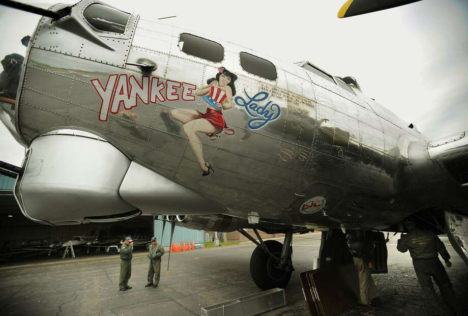 "The World War Two B-17 bomber ""Yankee Lady"", based outside of Detroit, Michigan, visits Sikorsky Airport in Stratford, Conn. on Monday, May 18, 2015. It will again visit Sikorsky Airport on May 30-31, 2017. Photo: Brian A. Pounds / Brian A. Pounds / Connecticut Post"