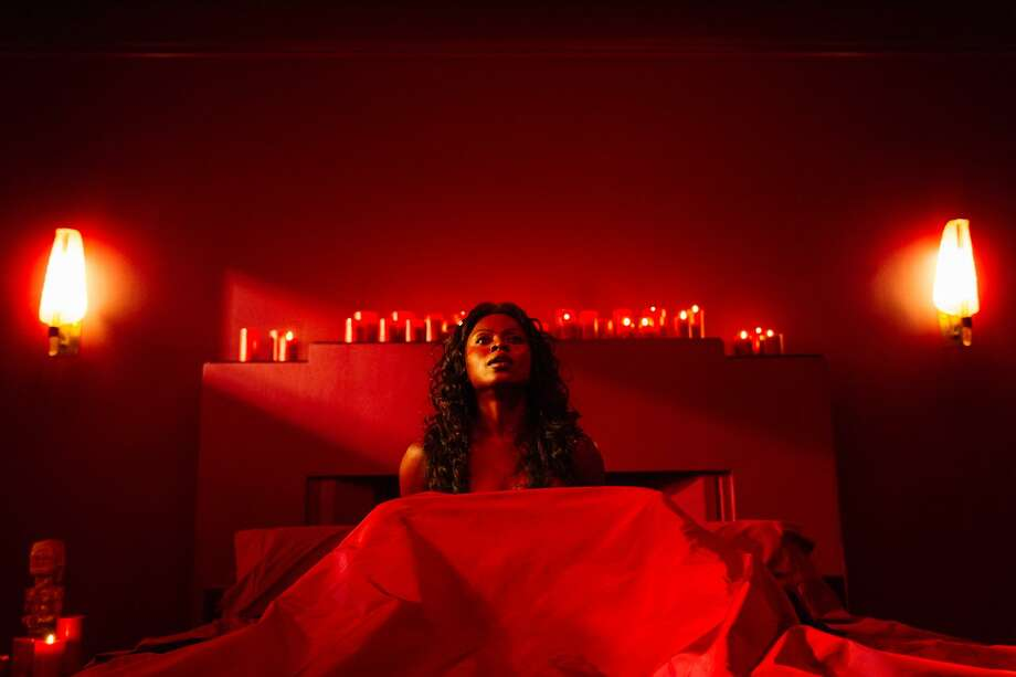 One of the most shocking sequences of 'American Gods' features the succubus-like Bilquis (Yetide Badaki) in her red-hot passion lair. Photo: STARZ /© 2017 Starz Entertainment, LLC / © 2017 FremantleMedia North America. ALL RIGHTS RESERVED. THIS MATERIAL is the exclusive property of FremantleMedia North Ameri