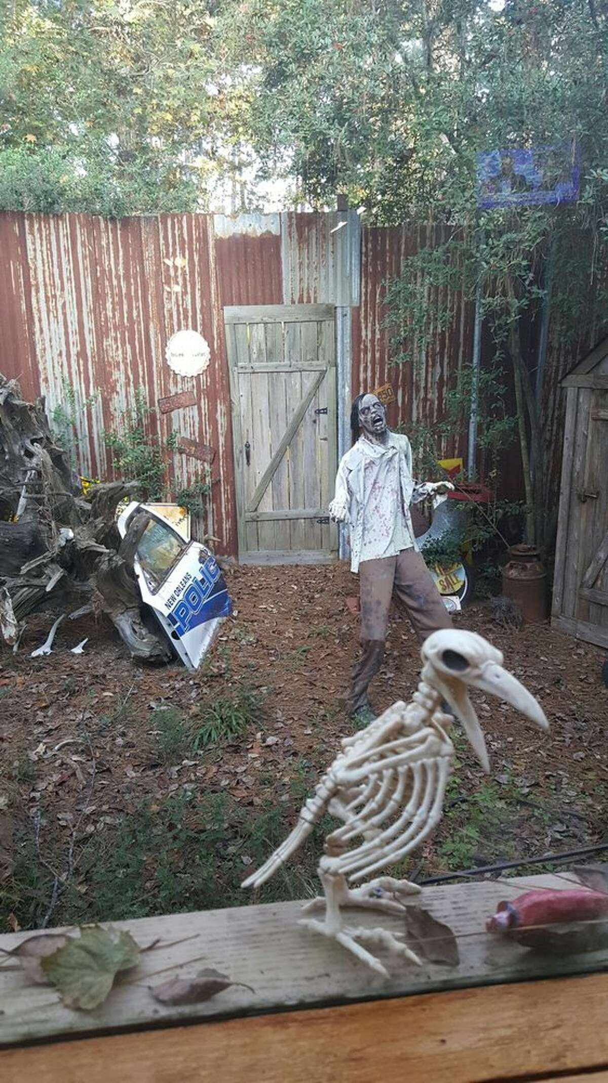 """Family Tree Recipe12202 FM 1488, MagnoliaYelp review by Jessica R: """"This place was really cool. It has a fun hillbilly/ zombie theme. The owners were really friendly. They have some of the tables set up with things they use to scare you. Pretty cool experience. We had a great time. Really different from any other restaurant I've ever been.""""Photo: Yelp/JC M"""