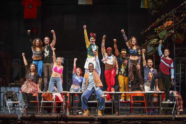 "The cast of ""Rent,"" which will performed at The Fox Theatre May 19, 20 and 21."