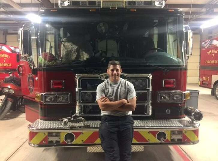 Lutheran High School baseball player Bryce Connolly also works as a volunteer firefighter in Helotes.