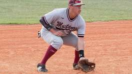 Lutheran High school baseball player Bryce Connolly in action in 2017.