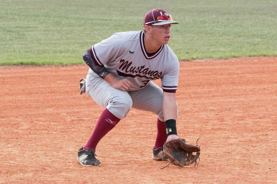 Lutheran's Bryce Connolly, a reserve Helotes Fireman, is batting .630 this year for the Mustangs. Photo: Courtesy /