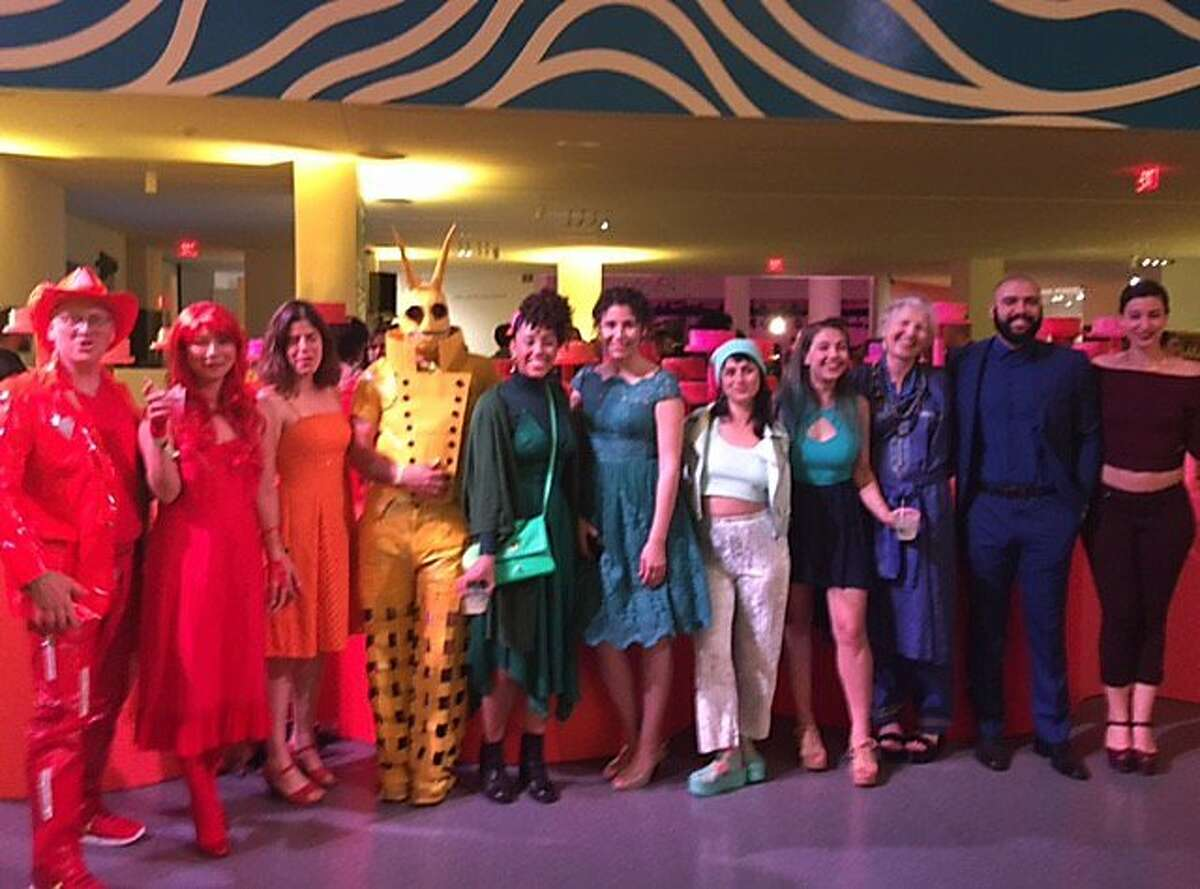 Strangers make a rainbow at SFMOMA Birthday Bash