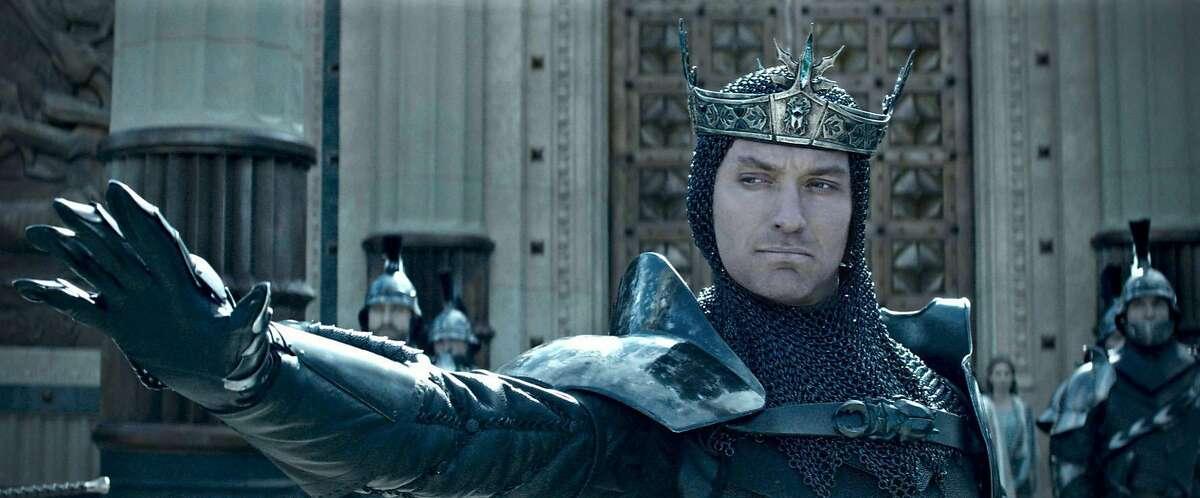 "Jude Law in ""King Arthur: Legend of the Sword."" (Warner Bros.)"