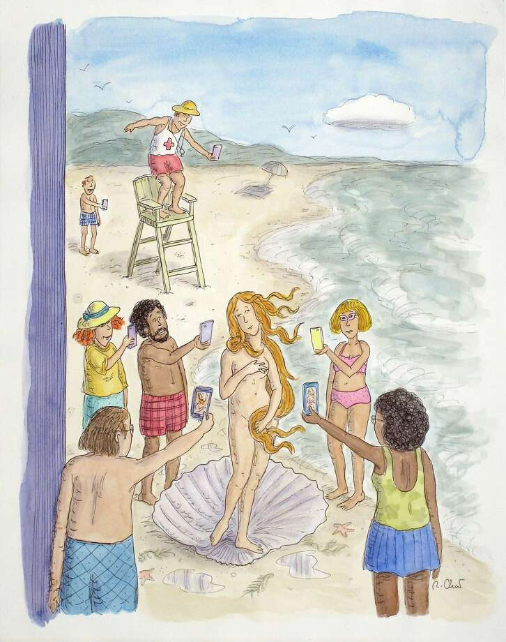 Roz Chast, the Birth of Venus, 2014 Photo: Cover Illustration For The New Yorker, Aug. 4, 2014, Courtesy Danese/Corey, NY