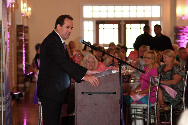 Scott Brady, a partner with Joiner Architects, speaks during the 6th Annual Mothers are Jewels Luncheon at The Overlook in Humble on April 20, 2017. (Photo by Jerry Baker/Freelance)