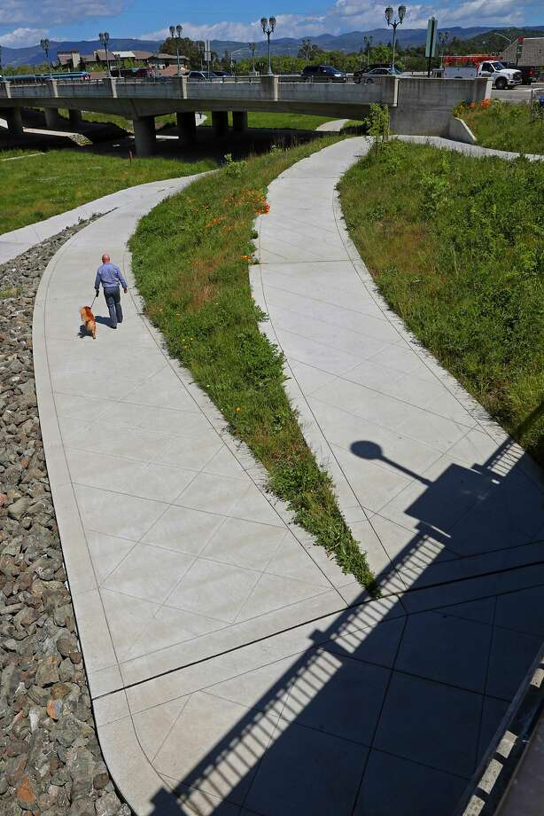 The Oxbow bypass, which doubles as a park and as flood protection for downtown. Photo: Michael Macor, The Chronicle