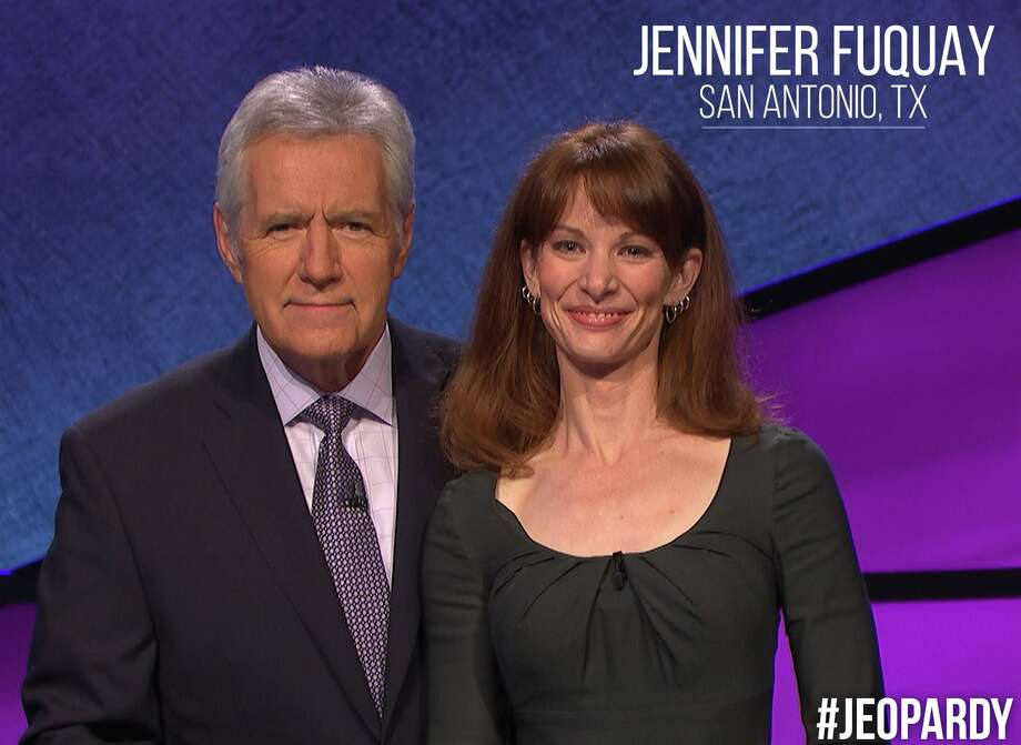 San Antonio mom Jennifer Fuquay said 'lovely' host Alex Trebek took the sting out of her embarrassing 'Jeopardy' finish, which aired today. Photo: Courtesy Photo