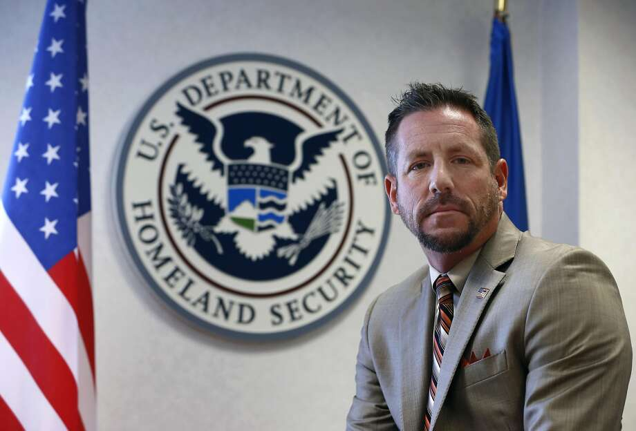 Ryan Spradlin, special agent in charge of Homeland Security Investigations, at his office in San Francisco. Photo: Paul Chinn, The Chronicle