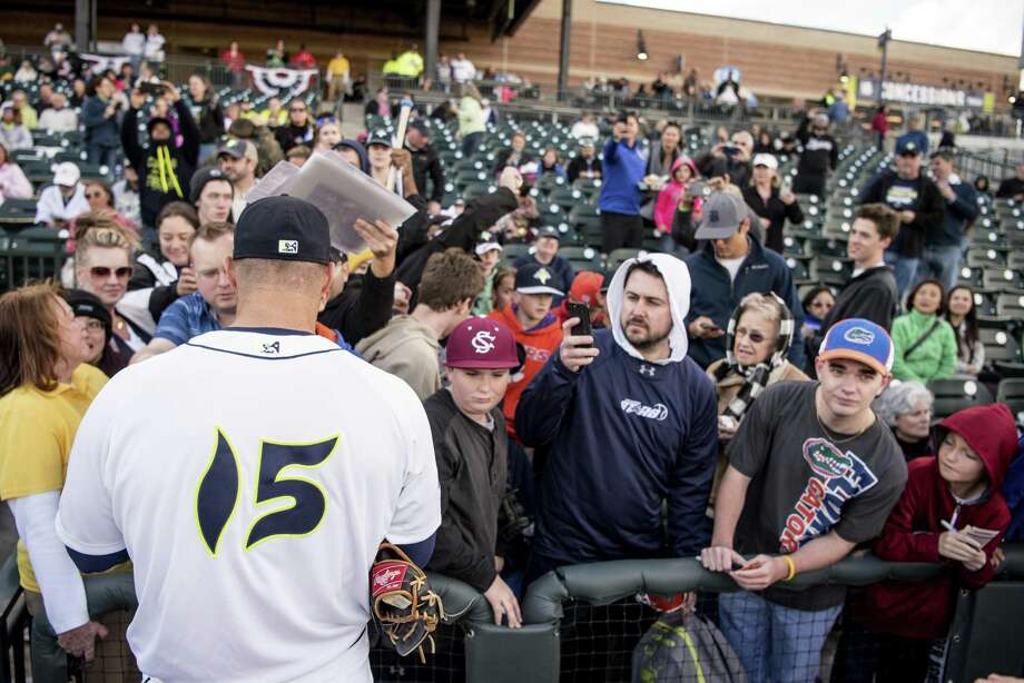 Columbia Fireflies' Tim Tebow signs autographs before the team's game against the Augusta GreenJackets earlier this month in Columbia, S.C. Photo: Sean Rayford / Associated Press / The Associated Press