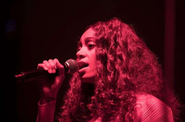 Solange performed at SFMOMA's Birthday Bash on Wednesday, April 26.
