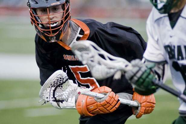 Shelton High School's Casey Brennan follows the ball closely during a game against Norwalk High School, played at Norwalk. Thursday, April 27, 2017