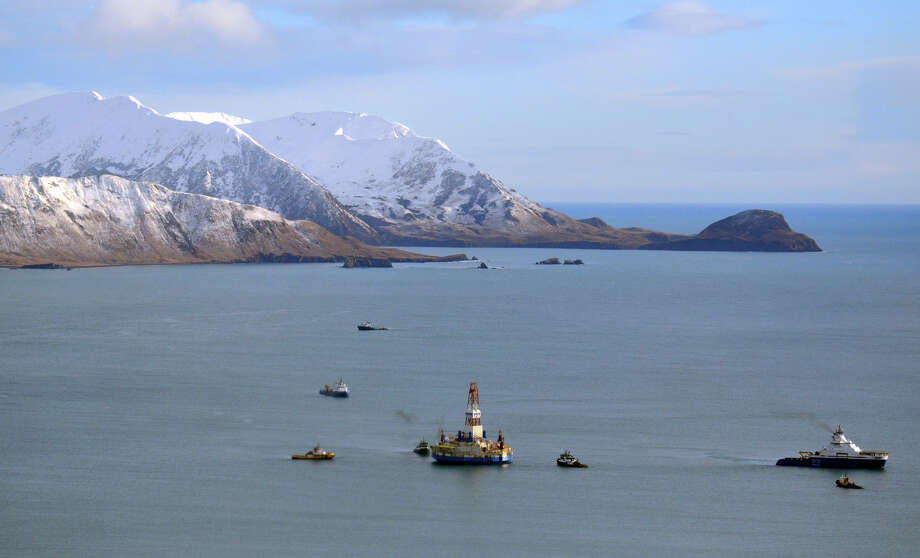 The oil drill rig Kulluk in 2013 off Kodiak Island in Alaska. President Donald Trump has signed  an order opening up protected waters to offshore drilling. Photo: James Brooks, MBR / Kodiak Daily Mirror