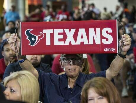 Houston Texans fans watch the NFL Draft during the Texans' NFL Draft party at NRG Stadium on Thursday, April 27, 2017, in Houston. ( Brett Coomer / Houston Chronicle )