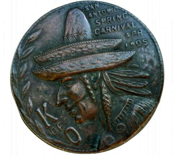 The 112-year-old Knights of Omala medal is believed to be the first in Fiesta history.