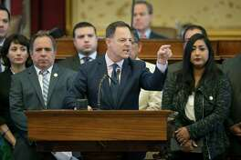 """Speaking against the sanctuary cities bill were House Democrats, including Rep. Rafael Anchia of Dallas, who accused Republicans of using """"immigrants for political gain."""""""
