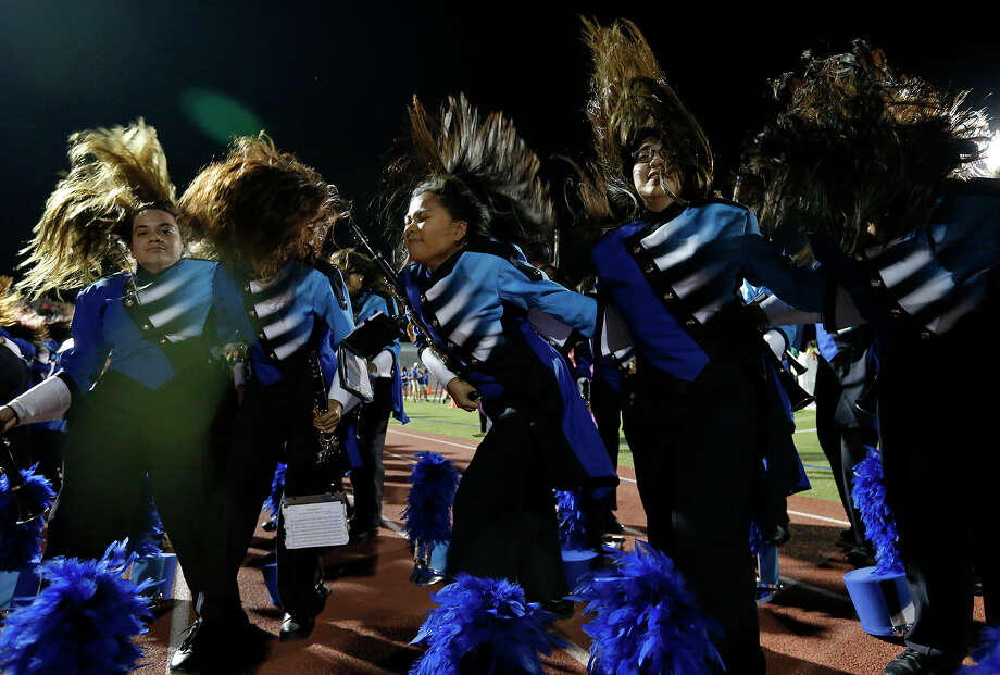 "Members of the South San Antonio High School Band perform during the 79th annual Battle of Flowers Association Band Festival ""Blazing Trails!"" held Thursday April 27, 2017 at Alamo Stadium. Photo: Edward A. Ornelas, San Antonio Express-News / © 2017 San Antonio Express-News"