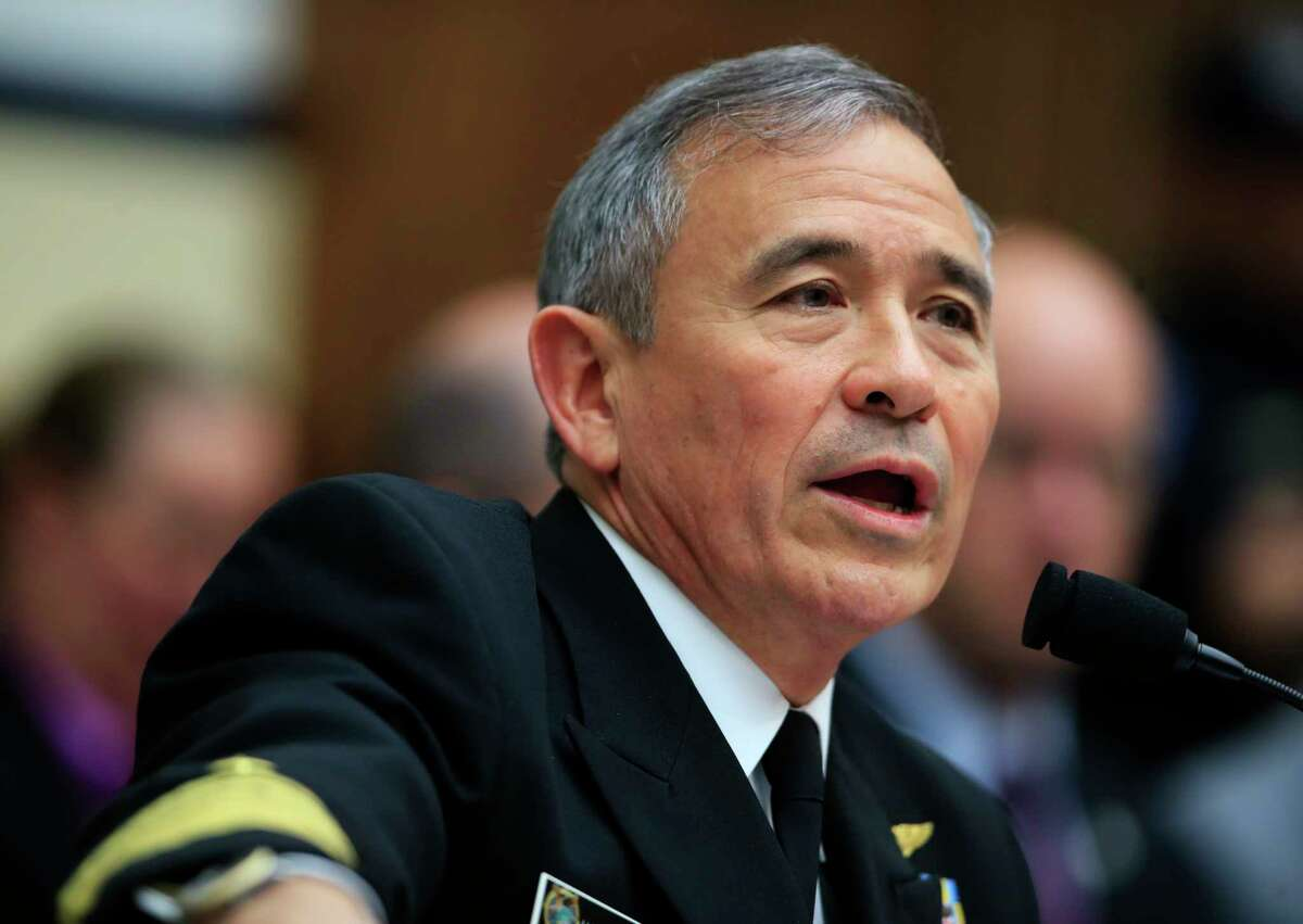 In this photo taken April 26, 2017, U.S. Pacific Command Commander Adm. Harry Harris Jr. testifies on Capitol in Washington before a House Armed Services Committee hearing on North Korea. Harris said Thursday, April 27, 2017, that the crisis with North Korea is at the worst point he?'s ever seen, but he declined to compare the situation to the Cuban missile crisis decades ago. (AP Photo/Manuel Balce Ceneta) ORG XMIT: WX105